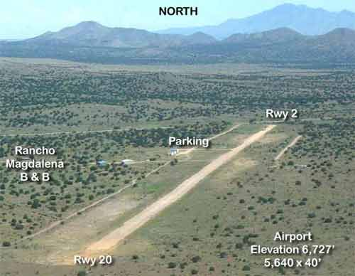 Runway map, aerial view